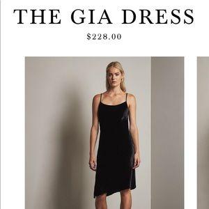 Stunning AG Gia True Black Velvet Dress